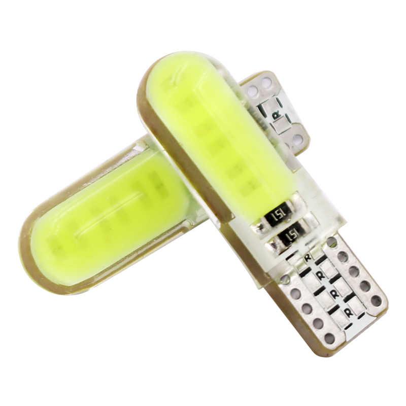 6 шт T10 W5W светодиодный интерьер автомобиля свет силикагель COB маркер лампа 12 V 194 501 клиновидные боковые парковочная лампа canbus Авто Стайлинг