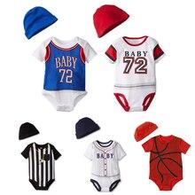 98e157e4c5 Mamelucos de verano para Bebés Ropa de baloncesto para bebés mono de niño  de manga corta