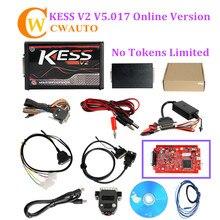 Kess V2 V5.017 V2.47 мастер 2018 красный pcb онлайн версия Поддержка 140 протокол без базовых ограничений ECU Инструмент для прошивки