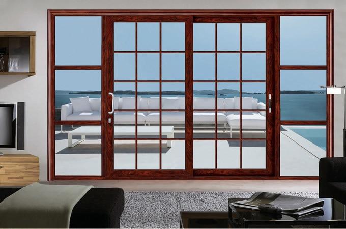 Aluminio multi leaf puerta corredera aluminio de la for Puerta corredera aluminio exterior