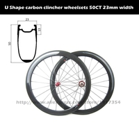 700C Aero Shape 50mm Carbon Clincher Wheelsets Tubeless Ready High Tg Clincher Wheelsets For Road Bike