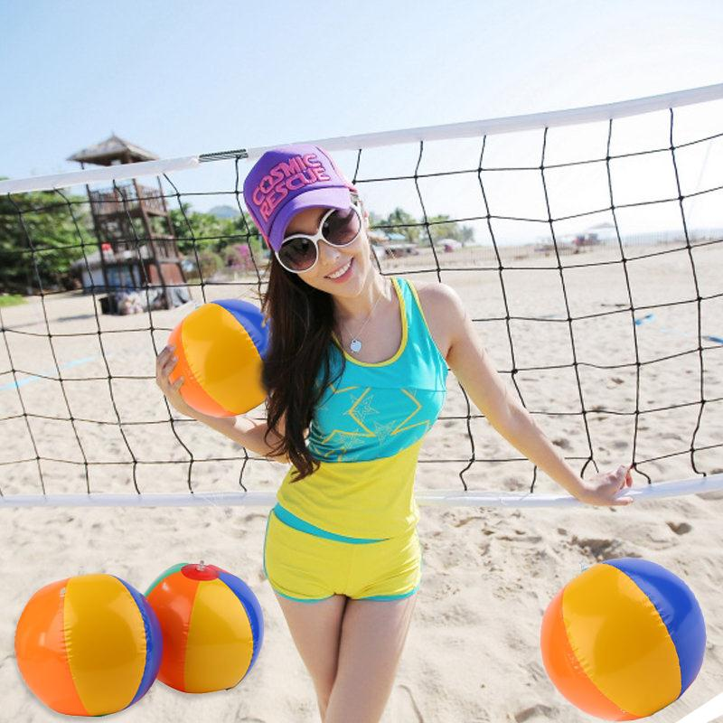 2017 New Colored Inflatable 23cm Ball Balloons Swimming Pool Play Party Water Game Balloons Beach Sport Ball Kids Fun Toys
