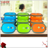 1 set 3 Colors Stainless Steel Solid Round Bento Box Bowls Hot Sale Thermal Insulation Boxes Student Lunch Box Lunchbox 5ZKC019