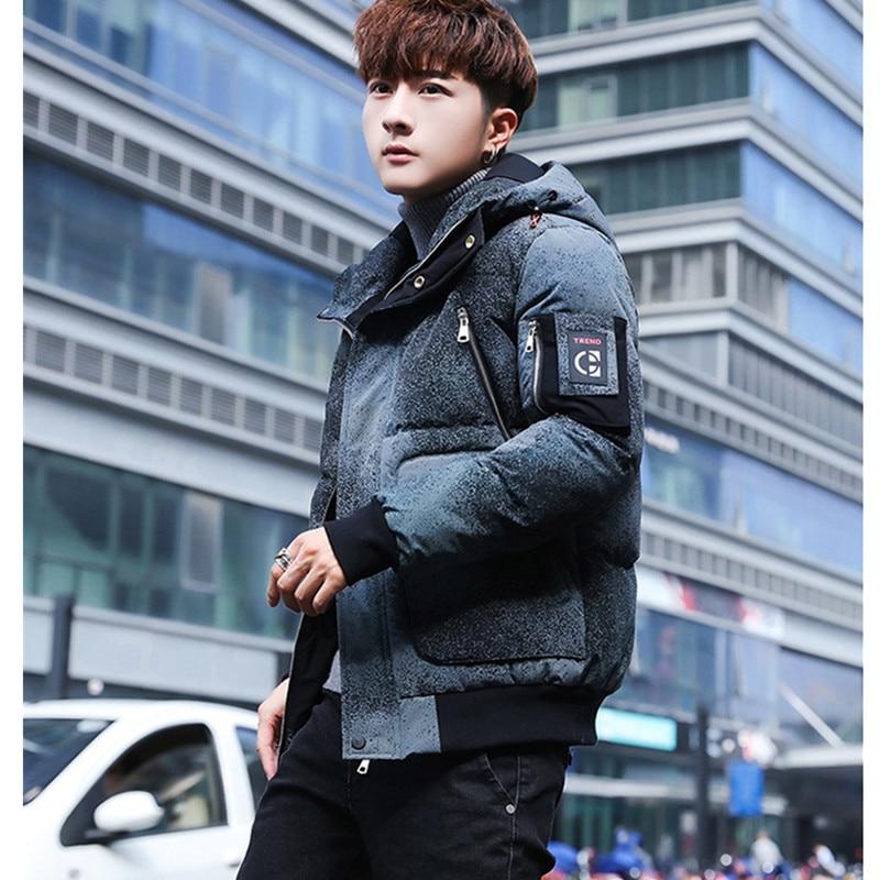 Tendance hommes mode jeunesse hiver à capuche épaissir