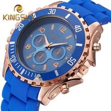 Quartz Watch Women Fashion Silicone Candy Casual Bracelet Watches Reloj Mujer 2016 Luxury Brand KINGSKY relogio