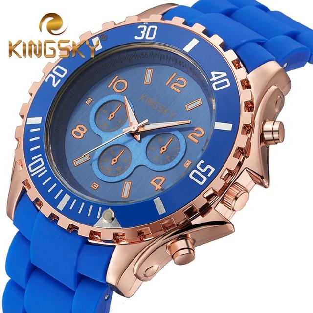Quartz Watch Women Fashion Silicone Candy Casual Bracelet Watches Reloj Mujer 2016 Luxury Brand KINGSKY relogio feminino