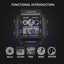 Luxury Watch Reloj Hombre Men's Watches Analog Digital Military Army Sport LED Waterproof Wrist Watch male Clock reloj hombre
