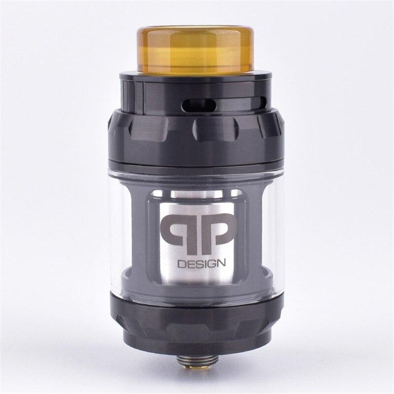Noir Ruban Couleur-qp conception Juggerknot RTA 24mm 4 ml/6 ml Reconstructible Réservoir Atomiseur Top flux d'air double/Simple Bobinage
