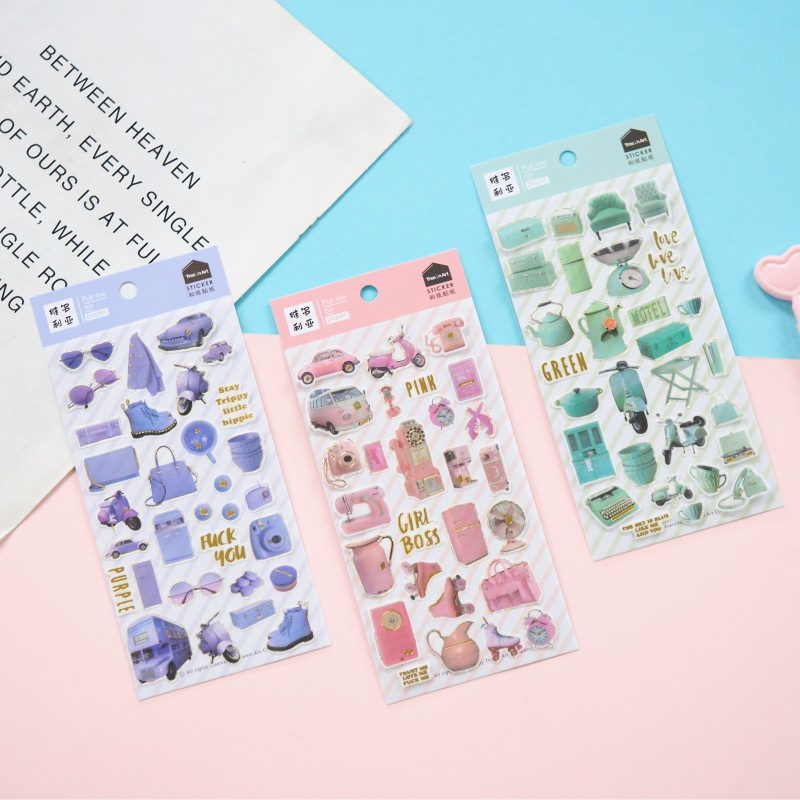 Sofa Kettle Glasses Bullet Journal Decorative Stationery Stickers Scrapbooking DIY Diary Album Stick Label