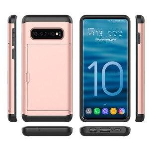Image 3 - スライドカバー財布カードスロット三星銀河S10 プラスS20 S9 S8 注 20 超 10 プラス 5 グラム 9 8 S10e S7 S6 エッジプラスfunda