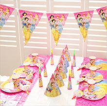 600f25e20 six princess Belle Party Supplies Plate/Cup/Straw/Tablecloth/Cutlery/spoon/cap  Birthday Party Decoration baby Shower Favor Set
