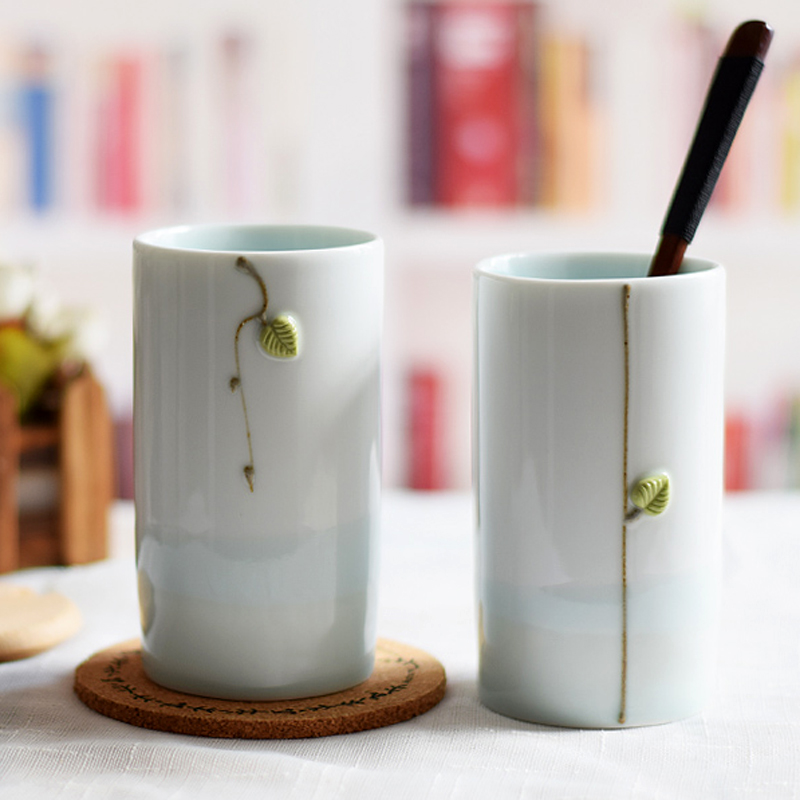 d3963804ae0 Set of 2 Unique Ceramic Cups Lover Couple Mugs Chinese Style Porcelain  Water Cup Coffee Tea Mug Fancy Handcrafted Stoneware Gift-in Mugs from Home  & Garden ...