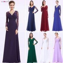 נשים אלגנטי ערב שמלות 2020 פעם די EP08692 אונליין V צוואר תחרה ארוך שרוולים פורמליות מפלגת שמלות 2020