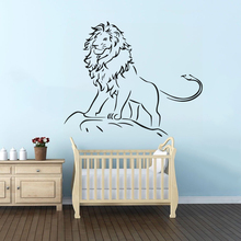 все цены на Lion King Wall Decal Kids Boys Room Decor Lion King of The Jungle Wall Art Mural Removable Forest Animal Vinyl Stickers AY1548 онлайн