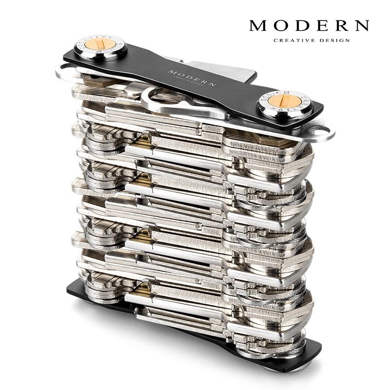 Brand Aluminum Key Smart Wallet DIY Keychain EDC Pocket Key Holder Key Organizer – Modern