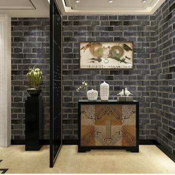 3D stereo antique brick complex brick pattern brick wallpaper Chinese restaurant TV background wallpaper
