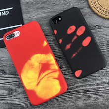Thermal Heat Induction phone Case For iphone X XR XS Max 5 5S SE 6 6S 7 8 Plus Fashion protective Silicone Back Coque Cover