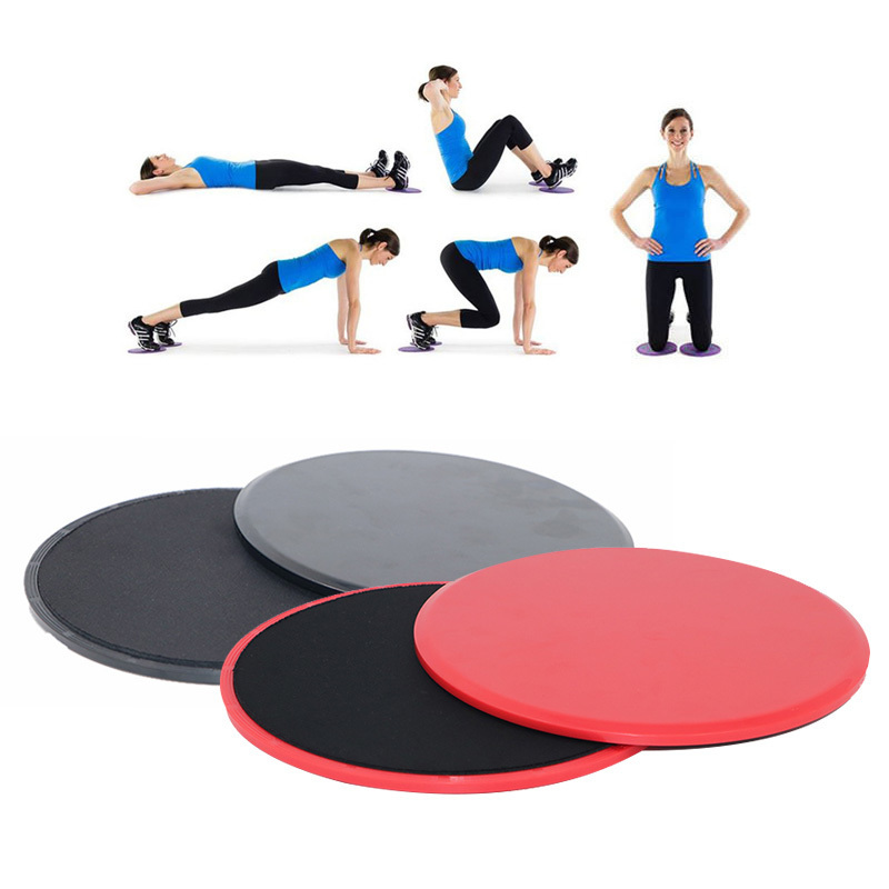 Fashion Style 2pcs Gliding Discs Slider Fitness Disc Ab Workout Exercise Sliding Plate For Yoga Gym Abdominal Core Training Exercise Equipment Fitness & Body Building