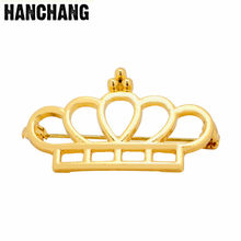 Fashion Wanita Perhiasan Pricess Crown Bros Pins Pernikahan Aksesoris Ornamen Keringat Syal Kerah Bros(China)