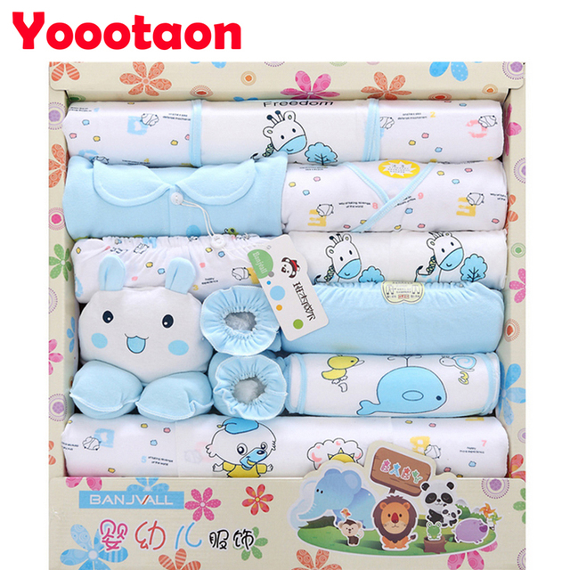 100% cotton 18pcs/set  Baby's clothing sets for newborn Brand high quality Baby Girl Boy Clothes cute Cartoon Underwear