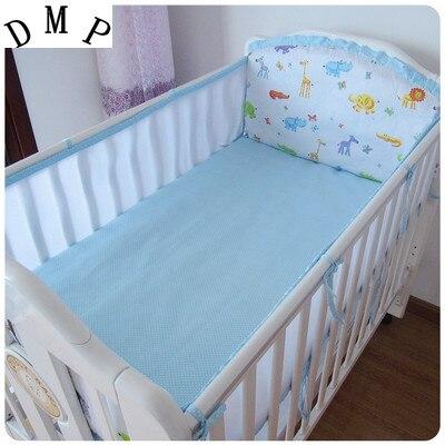 Promotion! 5PCS Mesh Bedding Set,Multi-functional Baby Safe Sleeping Baby Bed Bumpers Set Crib Bumper Set ,(4bumpers+sheet)