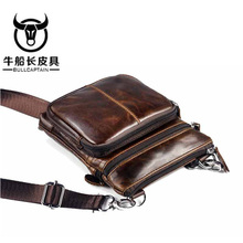BULLCAPTAIN Brand 2018 Man's Fashion Genuing Leather Famous