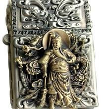 SLGZS часы videor Guan Gong 12 Зодиак может работать на молнии вставка ручной работы латунь тибетский серебряный 3D зажигалка