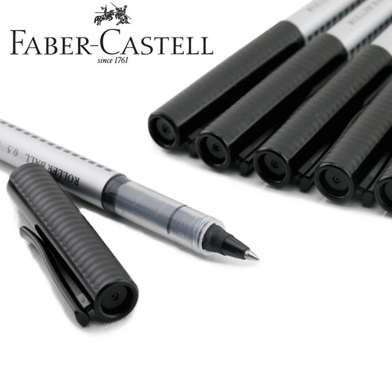 Faber Castell 10pcs/Box Gel Pens 0.5mm Blue Ink or Black Ink for Students School StationaryFaber Castell 10pcs/Box Gel Pens 0.5mm Blue Ink or Black Ink for Students School Stationary