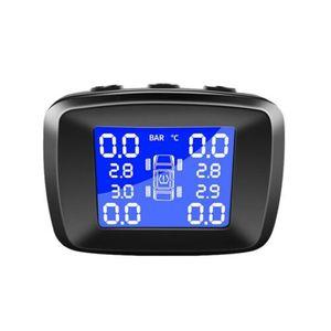 Image 5 - TPMS, Sistema Solar inalámbrico de monitoreo de presión de neumáticos LCD con 4 sensores externos XIU