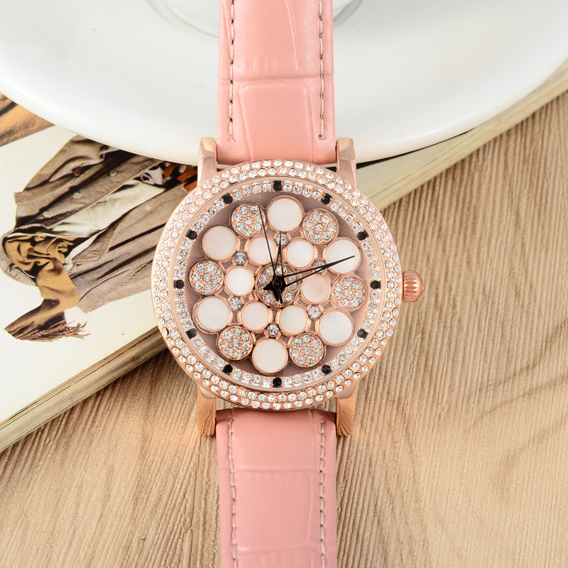 Lovely Egg Floral Watch Girls Students Watches GOOD LUCK Rotational Women Crystals Wristwatch Leather Relojes Montre femme W060 комплект аксессуаров для волос lovely floral