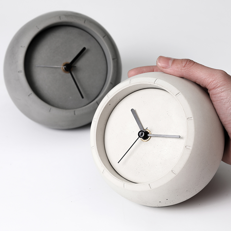 Creative concrete table clock silicone mold cement storage box mold household jewelry and ornaments storage mold