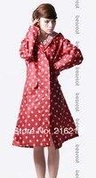 10 cái Hot Chia áo mưa thời trang khô phụ nữ siêu chống thấm thiết kế dài với một mui xe poncho Nhà Máy giá