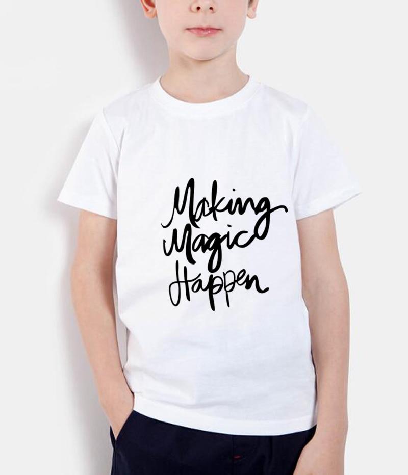 2018 nueva ropa de marca de verano de moda Making Magic Happen print - Ropa de ninos