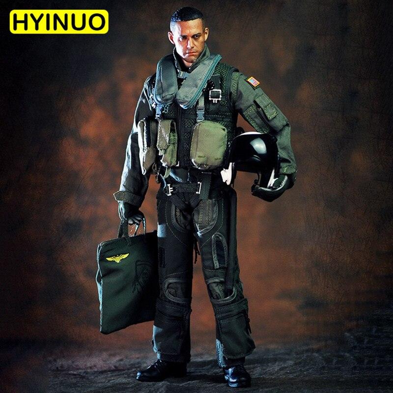 "1/6 Scale VH1049 Special Forces Pilot Men 101st Combat Attack Squadron Male Clothes Clothing Set F 12"" Action Figure Male Body"