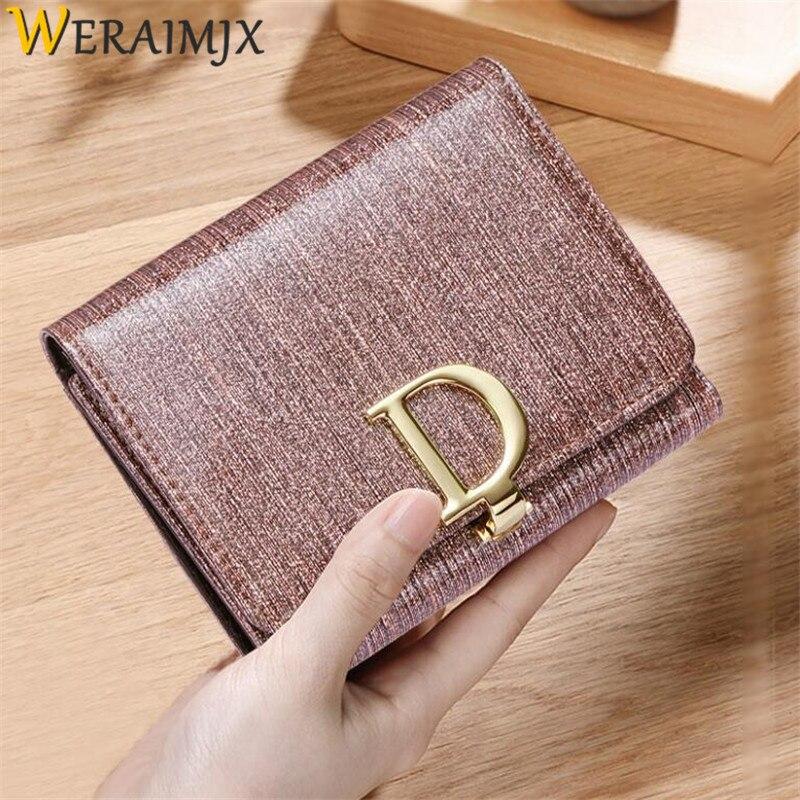 WERAIMJX Mode Korta Wallet Women Portefeuille Femme PU Läder - Plånböcker - Foto 1