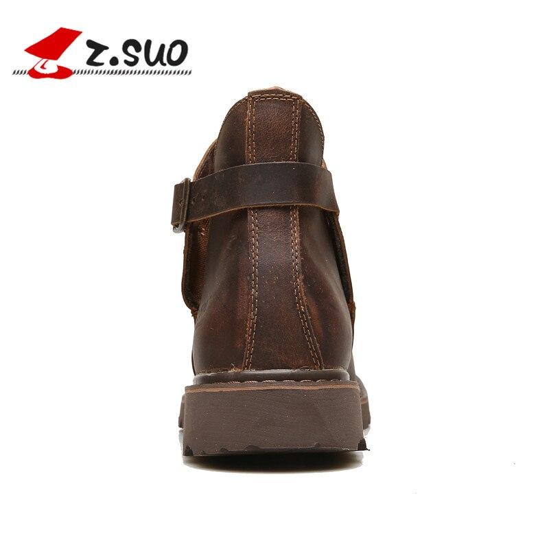 ZSUO ของผู้ชายรองเท้า, ธรรมชาติที่มีคุณภาพสูงแฟชั่นหนัง Slip   on รองเท้าสำหรับ Man, แฟชั่นชายรองเท้าบู๊ทรถจักรยานยนต์-ใน รองเท้าบู๊ทมอเตอร์ไซค์ จาก รองเท้า บน   3