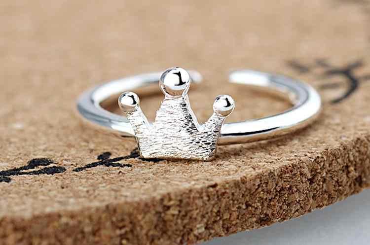 2017 جديد وصول الساخن بيع الأزياء حزب تاج حلقة الإناث 925 الفضة الاسترليني ladies'finger الخواتم والمجوهرات بالجملة رخيصة المرأة