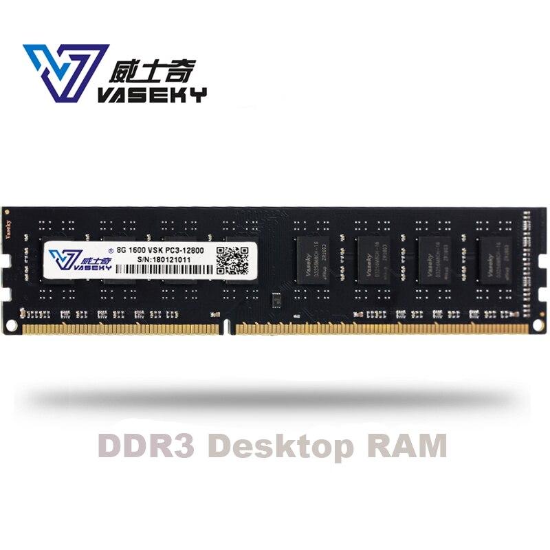 Vaseky 4GB 8GB 2GB PC Memory RAM Memoria Module Computer Desktop PC3 12800  10600 DDR3 1333Mhz 1600Mhz 2g 4g 8g 16gb 1333 1600