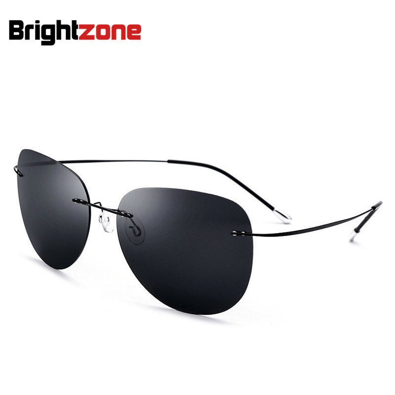 Light-weight Flexible Titanium No-screw Pc Polarized Personality Man Sunglasses Driving Men Woman Eye Glasses With Original Box Jade White