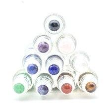 Bola de rolo de pedra preciosa natural, 5ml 10ml de rolo de óleo essencial de perfume grosso em garrafas