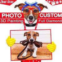 Photo Custom DIY Diamond Embroidery 5D Private Custom Diamond Painting Cross Stitch 3D Diamond Mosaic