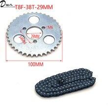 47cc 49cc T8F цепь 136 звенья и 38 54 74 зубья цепная пластина Звездочка для Мини Мото квадроцикл 2 тактный двигатель запчасти аксессуары
