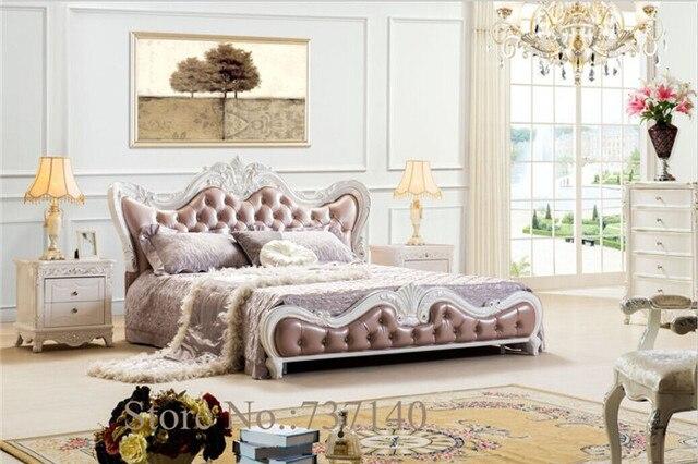Houten Slaapkamer Meubels : Slaapkamer meubels houten bed lederen dubbele bed meubels