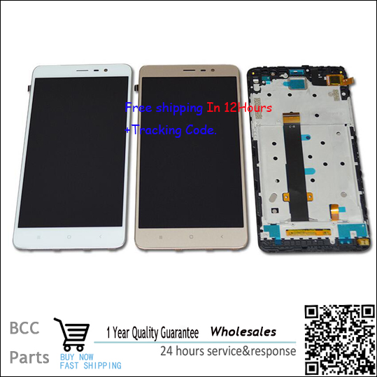 Original 100% NEW! LCD display +Touch Screen digitizer with frame For xiaomi hongmi RedMi NOTE3,Black,white,gold Test ok