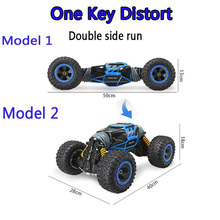 2.4GHz 1:16 Double-sided RC Off-Road Vehicle Car Toy One Key Transform All-terrain Varanid Climbing 4WD Truck Remote Control Toy все цены