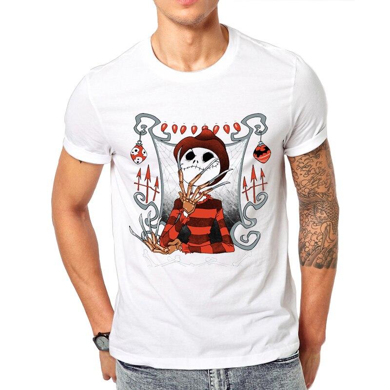 Lasting Charm Novelty Men T Shirts Brand Clothin O-Neck Tee Mens cartoon Graphic Tee Printed T-Shirt - The Nightmare King
