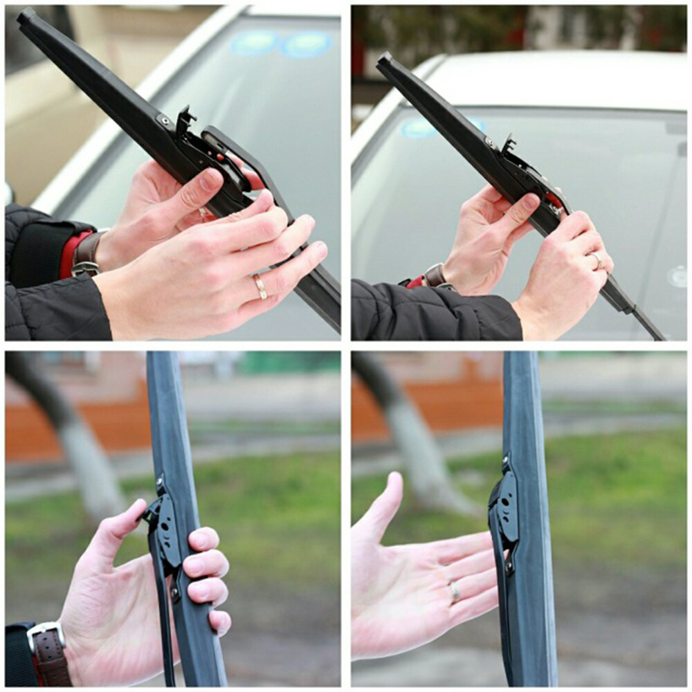 QEEPEI Winter Snow Wiper Blade U Hook Universal High Quality Rubber Windshield Windscreen Auto Car Accessories in Windscreen Wipers from Automobiles Motorcycles