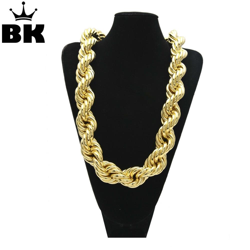 0a366106d31d8 Silver MOQ 50PCS Hip Hop Oversize Rope Chain Men's Gold Silver ...