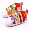 2016 Baby shoes New born Baby Boys&Girls First Walkers Kids Colorful stripes Casual canvas shoes infant shoes