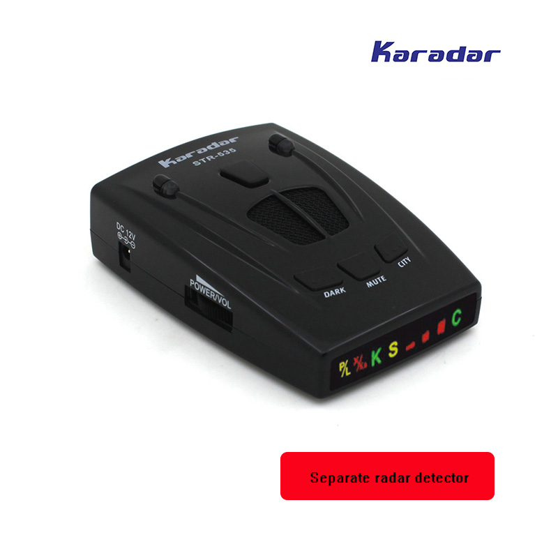 KARADAR Separate radar detector Car anti radar with Icon Display X K Laser Strelka bands Anti Radar car-detector human voice 2017 new car radar detector str535 car anti radar detector with laser warning vehicle speed control detector free shipping